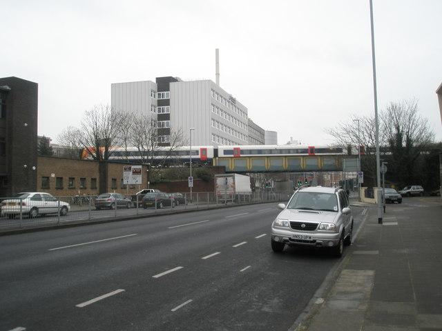 Railway bridge near Anglesea Buildings