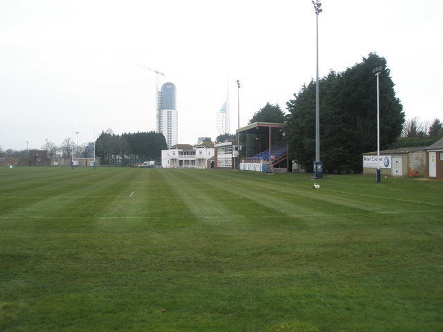 Main stand at US Portsmouth Sports Ground.