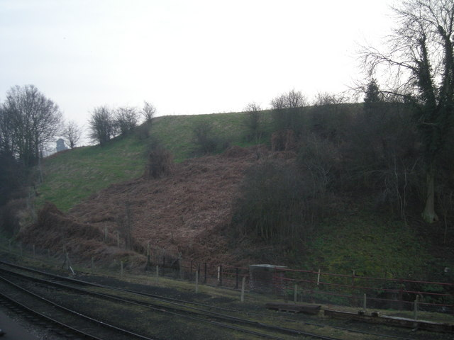 Panpudding Hill from the SVR Station