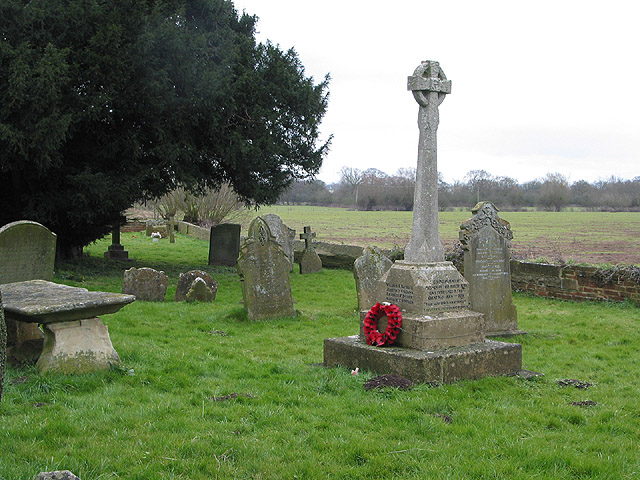War memorial, St. Michael and All Angels Church, Tirley