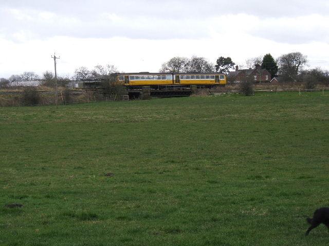 Yellow Train near Holme Farm