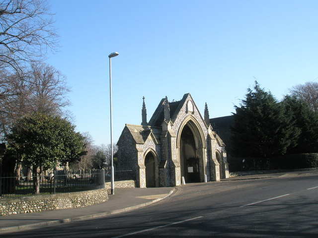 Cemetery gates in St Mary's Road