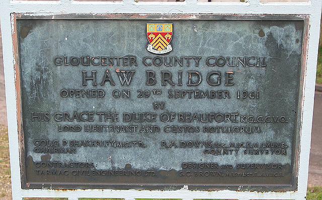 Plaque on Haw Bridge