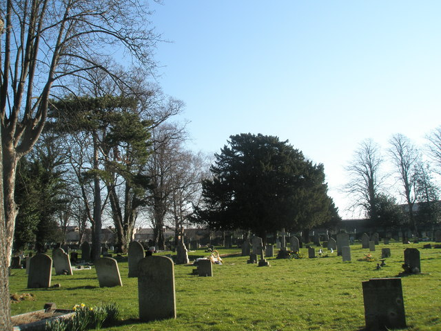 Graves looking west at Kingston Cemetery