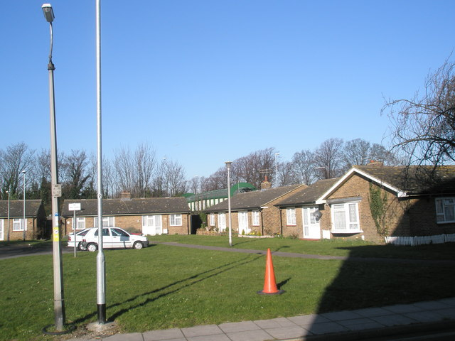 Old people's bungalows by the prison
