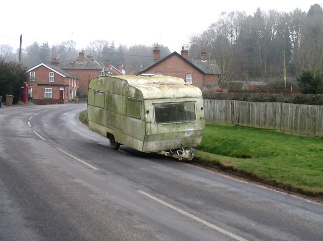 Dumped caravan in Dunbridge