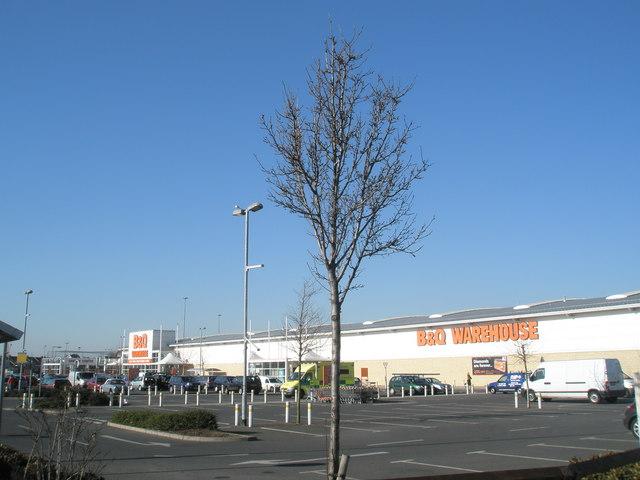 The B & Q car park