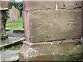 SJ4570 : Bench Mark on St. Peter's Church, Plemstall by BrianPritchard