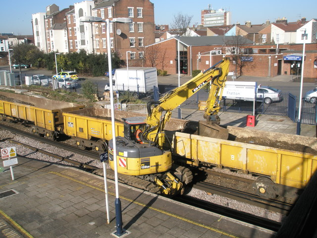 Maintenance work at Fratton Station