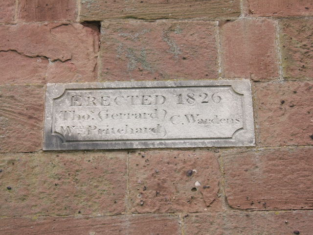 Plaque on St. Peter's Church , Plemstall