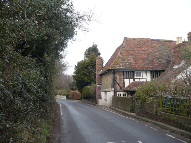Green Lane, approaching Rodmersham Green