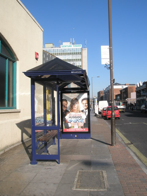 Bus stop by The Venture Tower