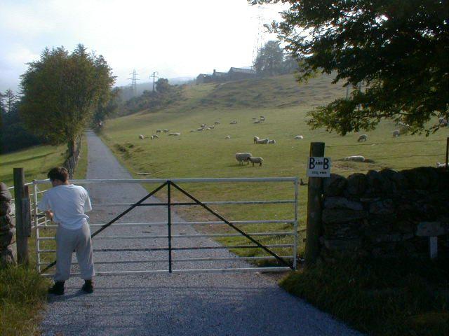 Gated Road to KinnighalenFarm