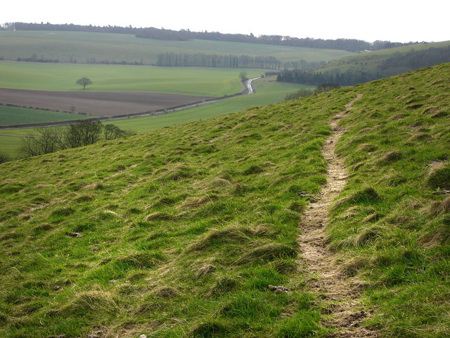 View along Small Down towards Hyden Hill