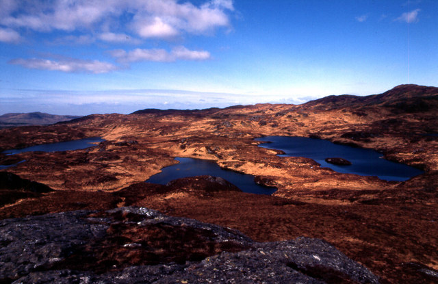 Lochan nam Caisil and two unnamed Lochans N of Glenborrodale