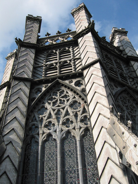Lead work on Cathedral tower