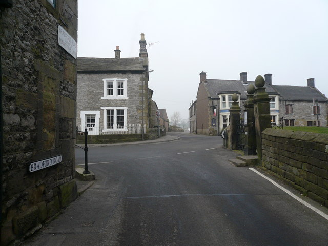 Youlgreave - Bradford Road junction with Church Street