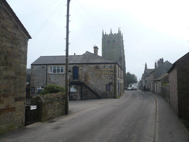 Youlgreave - George Hotel and Church