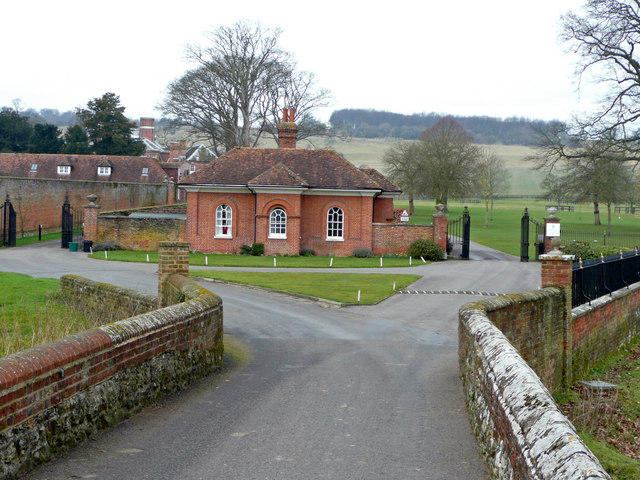 Lodge at the entrance to Godmersham Park