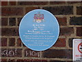 TL4558 : Blue plaque for Sir Jack Hobbs by Keith Edkins