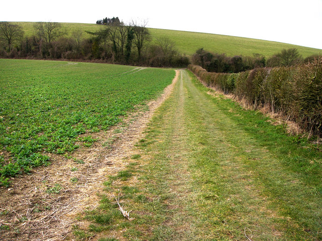 Footpath from Lower Farm to Small Down, near East Meon