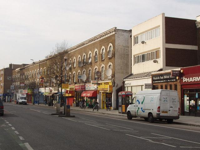 Shops with flats over, Uxbridge Road