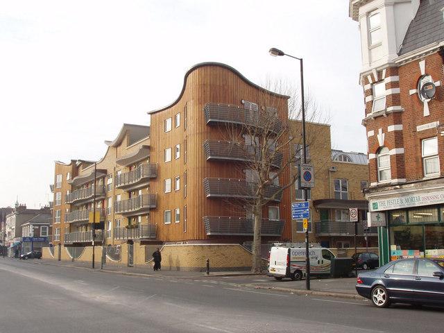 Modern flats on Uxbridge Road