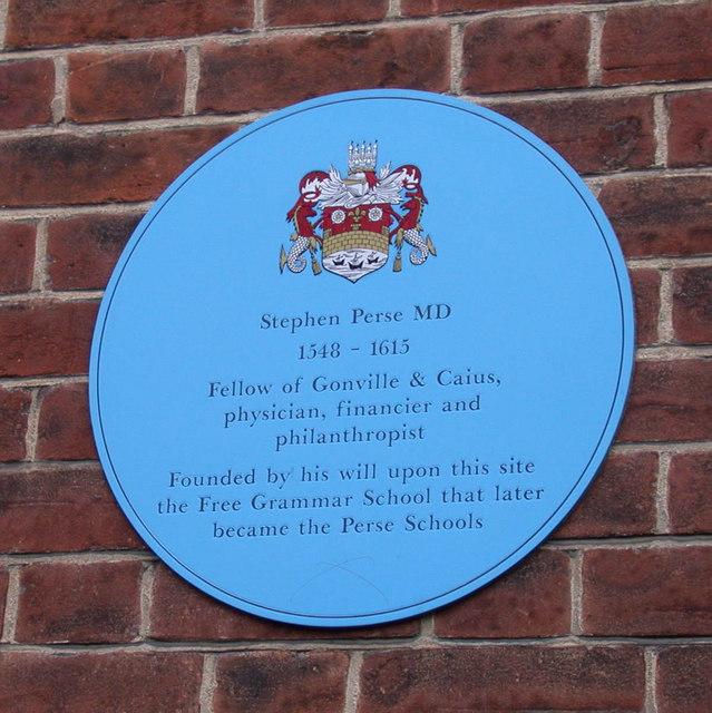 Blue plaque in Free School Lane