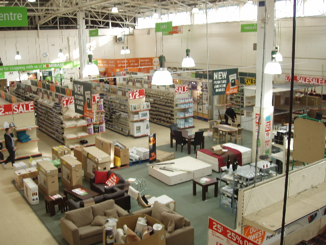 Interior of do-it-yourself shop, East Acton