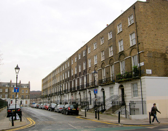 Claremont Terrace at the junction with Amwell Street