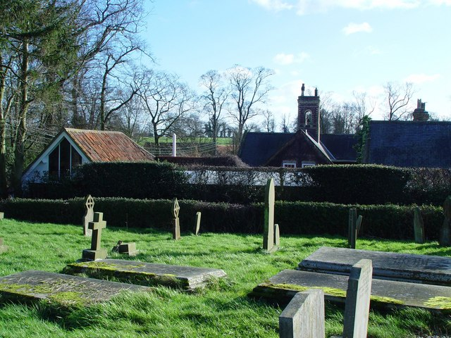Rooftops over the graveyard
