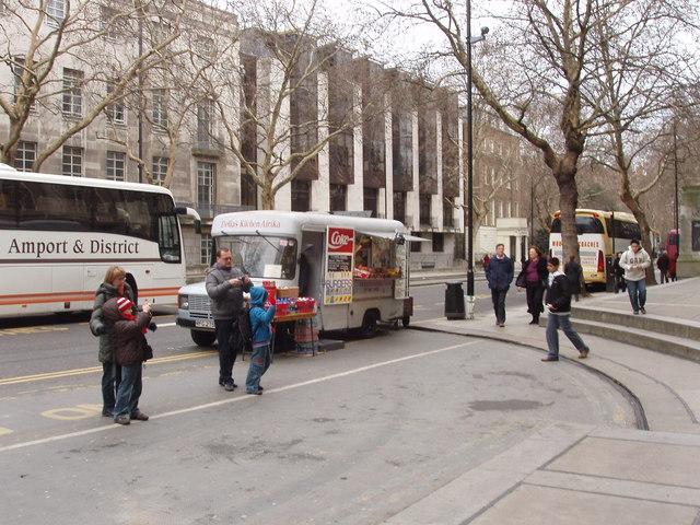 Snack van, British Museum north entrance
