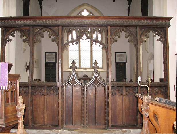 St Margaret's church - rood screen