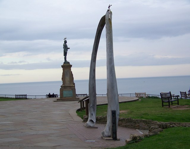 Captain Cook and Whale Bone Arch, Whitby