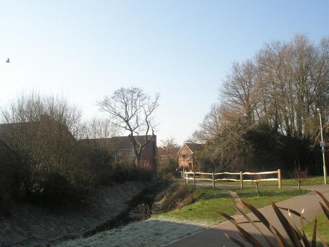 Stream flowing through Herne Farm