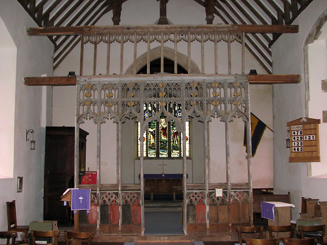 St Peter's church - rood screen