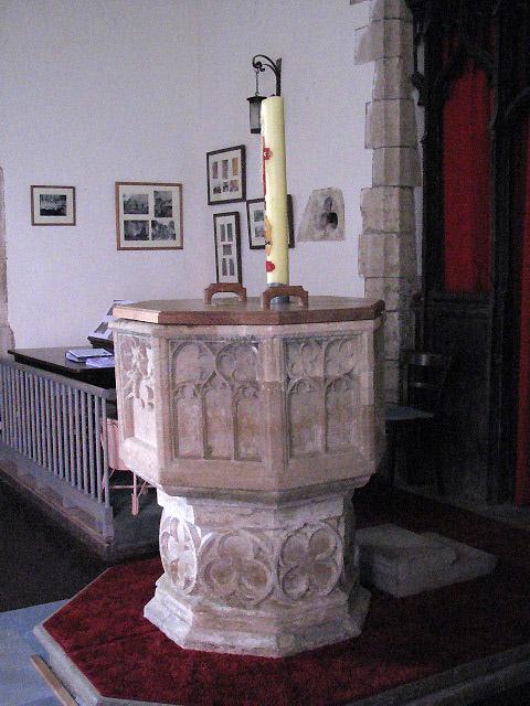 St Peter's church - baptismal font