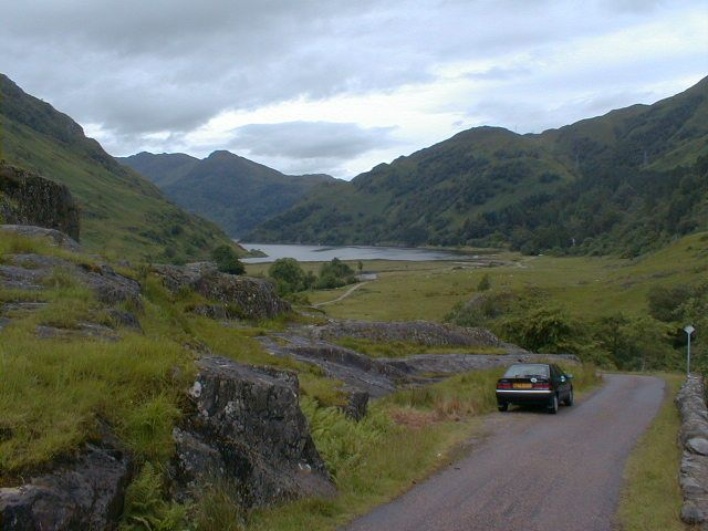 The road to Kinlochhourn