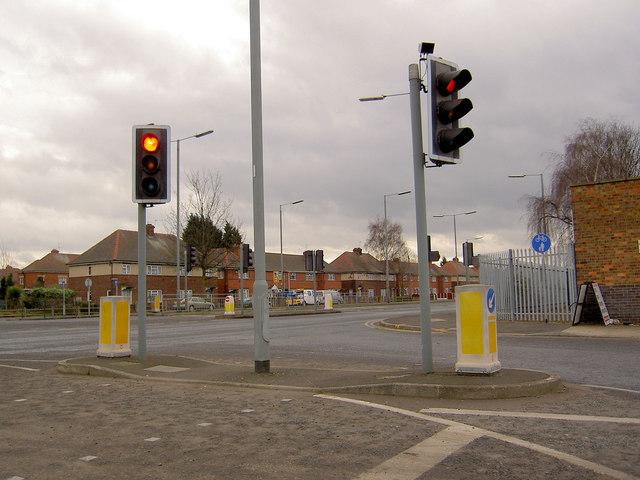 Traffic Lights onto Wheatley Hall Road