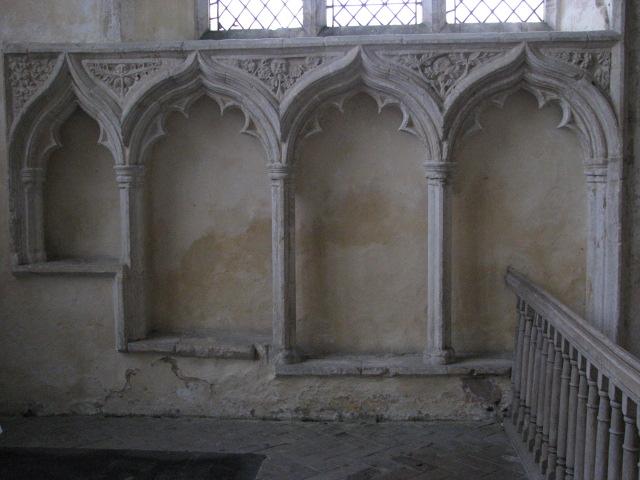 St Martin's church - sedilia