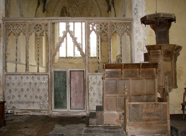 St Martin's church - rood screen and pulpit