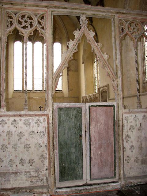 St Martin's church - rood screen detail