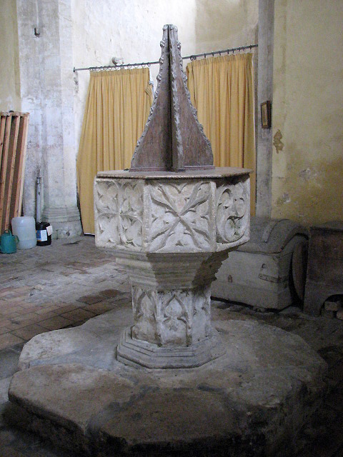 St Martin's church - baptismal font