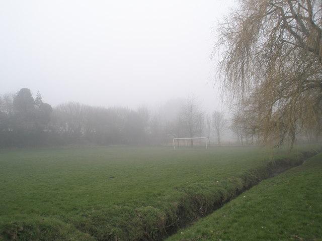 Football field behind Highfield Road