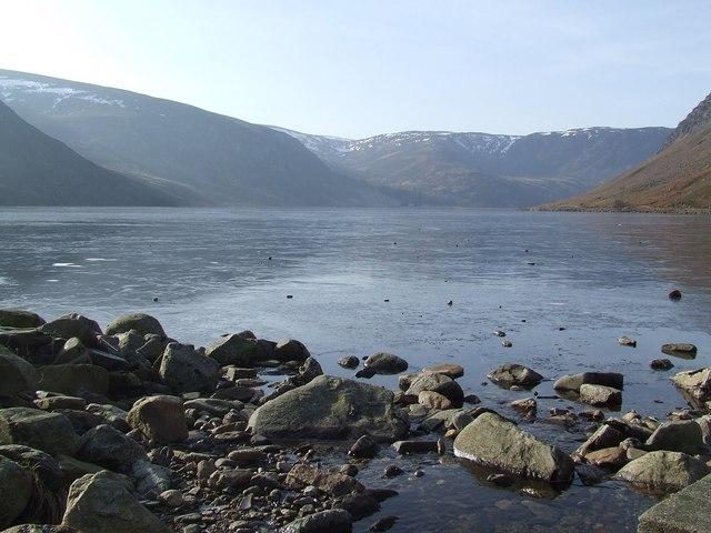 A frozen Loch Lee