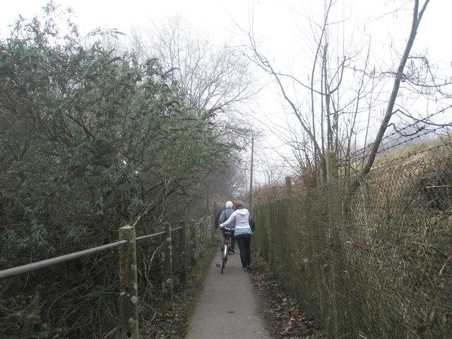Footpath adjacent to railway line