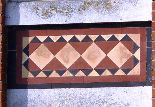 Decorative tiling, Rotunda, Oldway Mansion, Paignton