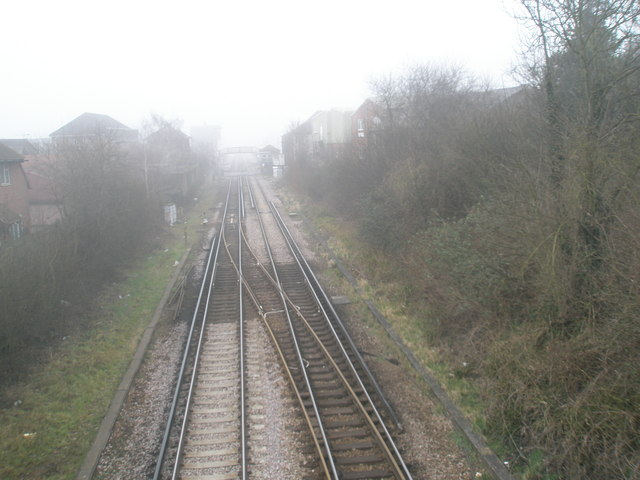 Looking from Tilmore bridge towards the station