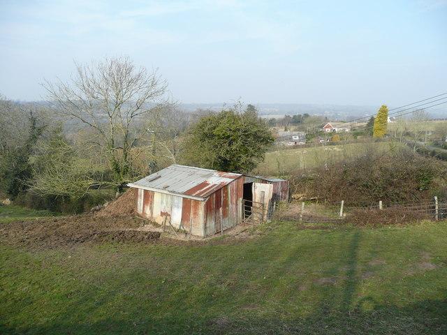 Corrugated iron shed