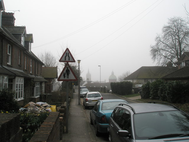 Churches in the mist.